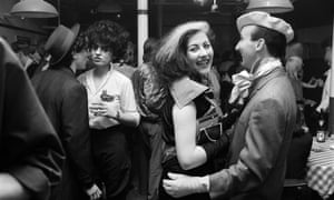 Stephen Jones, right, dancing with Jayne Chilkes at the Blitz Club in London.