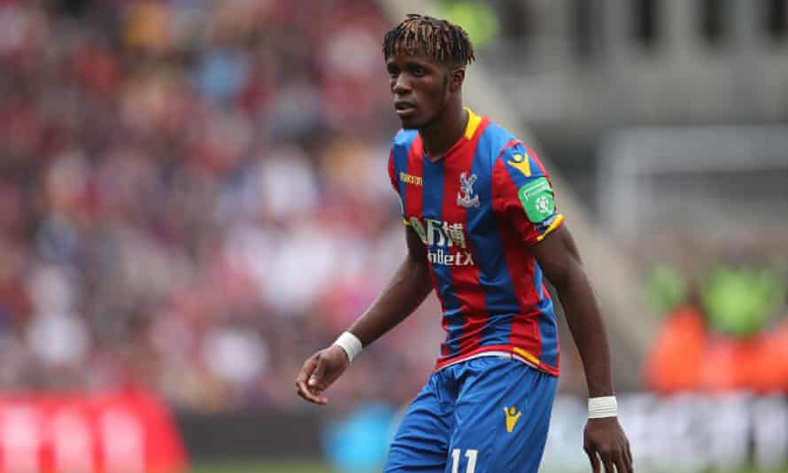 Wilfried Zaha played in the defeat against Huddersfield on Saturday.