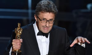 Not my tempo … Pawel Pawlikowski cues down the orchestra in his acceptance speech for Ida.