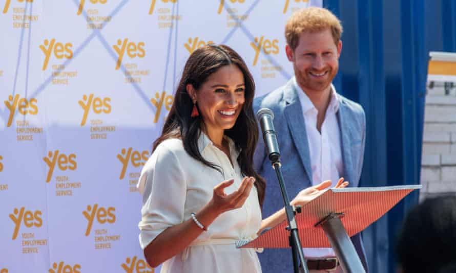 The Duke and Duchess of Sussex in Johannesburg in 2019