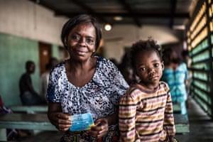 Shebilia, 4, waits for vaccine