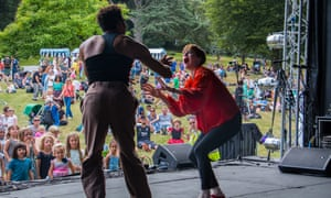 Disco Loco - on stage in the park