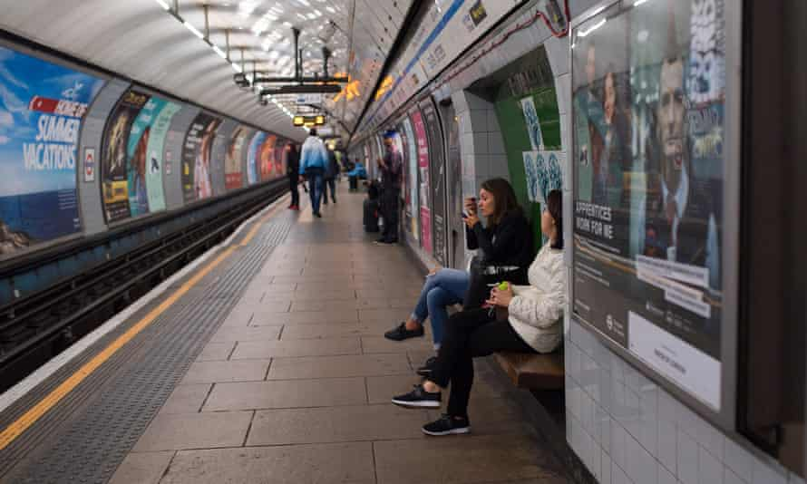 Waiting for a tube.