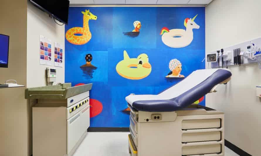 Derrick Adams' work at NYC Health + Hospitals in Harlem, New York.