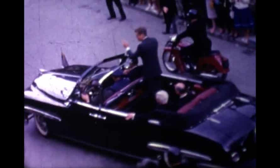 Still from footage of JFK in New Ross, Ireland, in 1963.