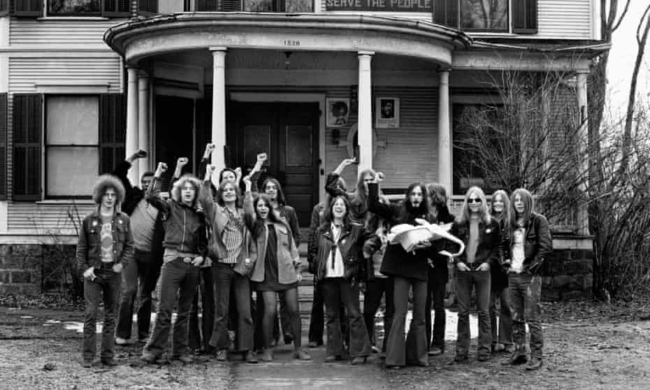 Members of the White Panther Party posing in 1970