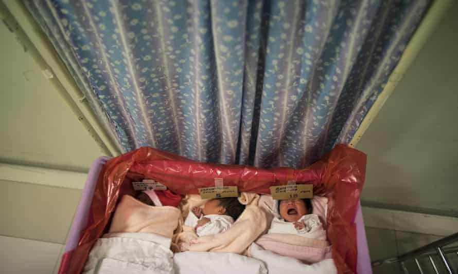 Newborn babies whose mothers are infected with coronavirus, at the National Perinatal and Maternal Institute.