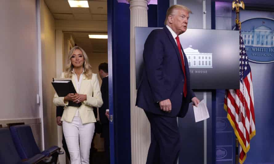 Trump and his 'devoted' new White House press secretary, Kayleigh McEnany