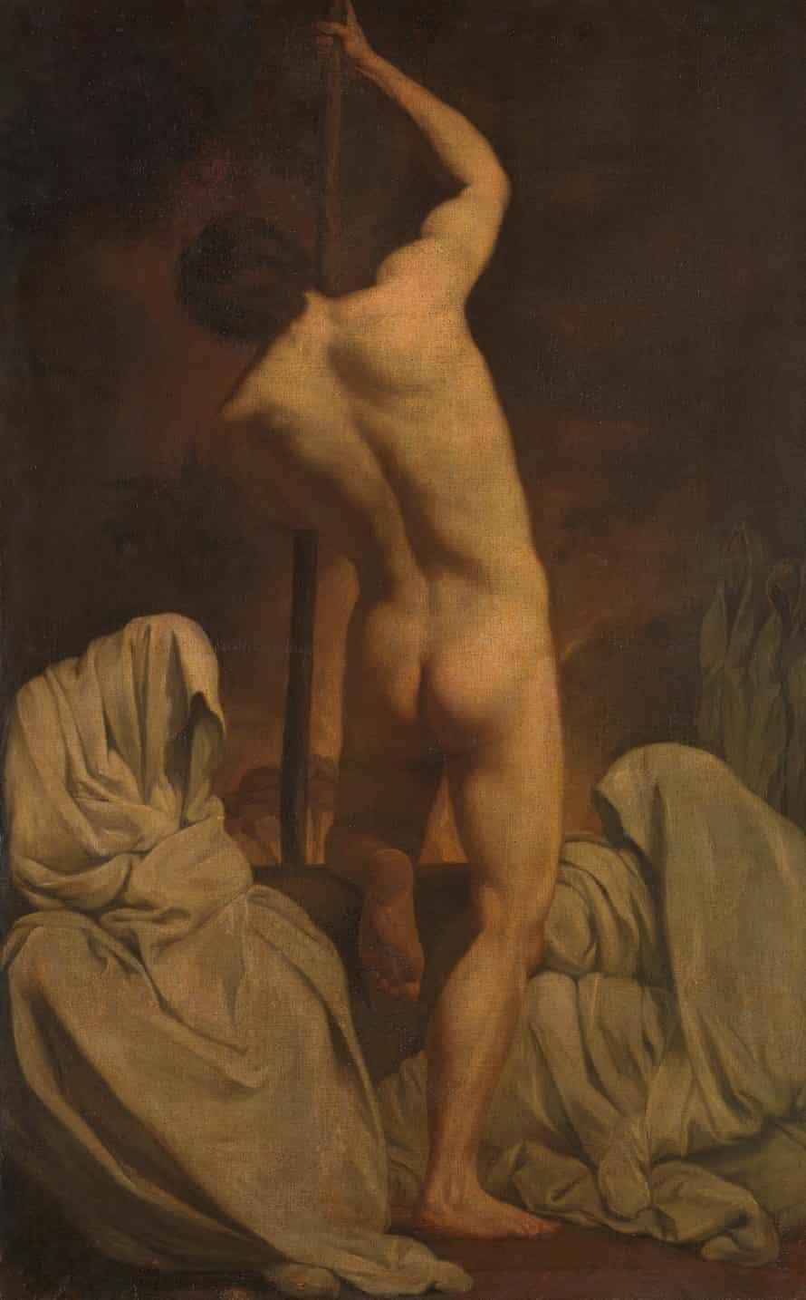 پس از Pierre Subleyras A Male Académie ('بارک شارون') حدود 1770