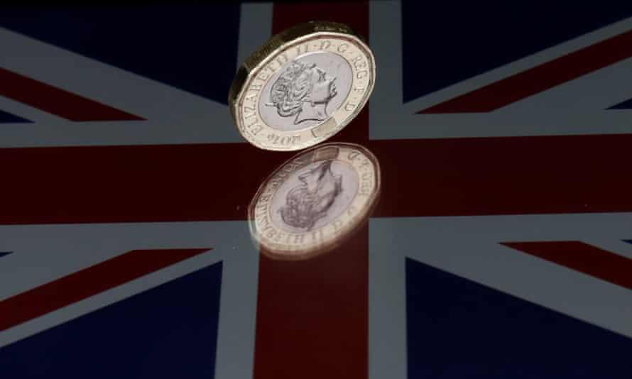 A pound coin on a Union Flag