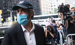 Michael Cohen arrives at his home in New York, New York, on 24 July after being released from federal prison.