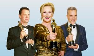 Tom Hanks, Meryl Streep and Daniel Day-Lewis