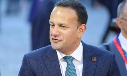 The Irish taoiseach, Leo Varadkar