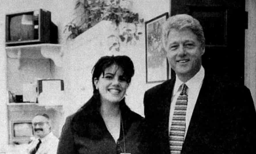 Bill Clinton and Monica Lewinsky in the White House in 1995