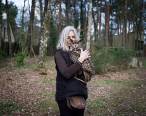 Entre Chien et Loup by Ed Alcock: 'Kadum, a large owl, is very protective of Anne, who he considers as his mother (or perhaps his lover). He fixed me with his threatening stare throughout the shoot'