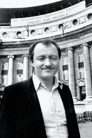 Ken Livingstone at the Greater London Council headquarters in 1984
