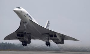 An Air France Concorde taking off in 2001.