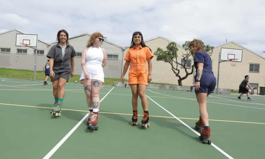The Chuffed Skates crew's four members