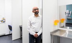 Dr Saket Priyadarshi at Scotland's first Enhanced Drug Treatment Facility in Glasgow