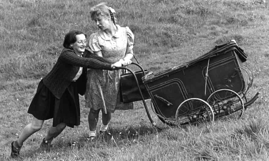 Janine Duvitski and Helen Mirren in Dennis Potter's Blue Remembered Hills, shown in Play for Today in 1979.