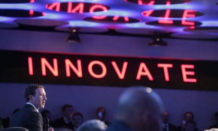 Facebook founder and chief Mark Zuckerberg receives the Axel Springer Award in Berlin