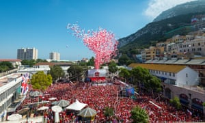 Gibraltar's annual balloon release is one of the biggest of its kind in the world.