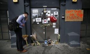 A man looks at tributes placed outside Fabric in September