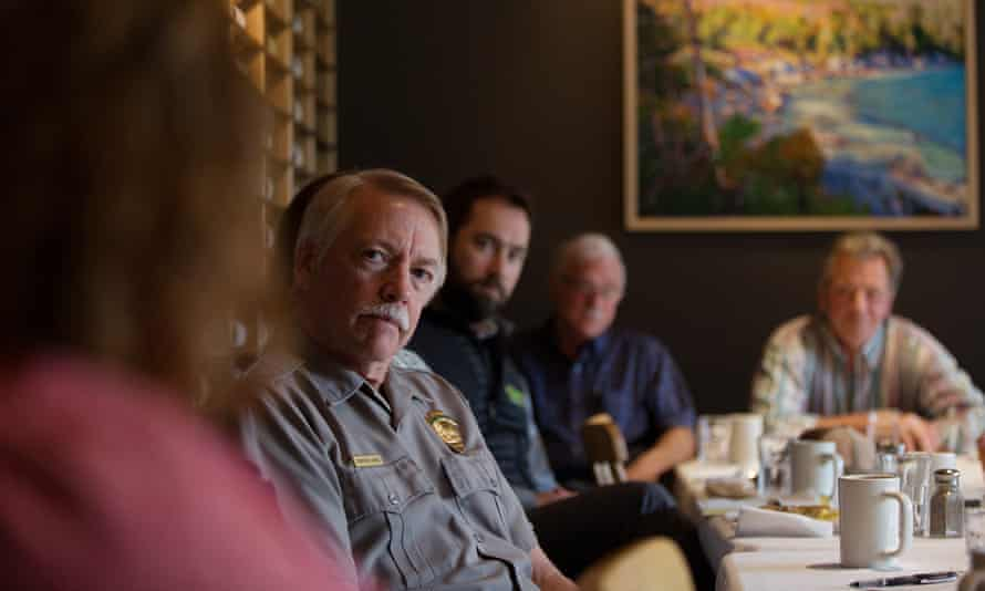 Jonathan Jarvis listens to community leaders in Maine in 2016.