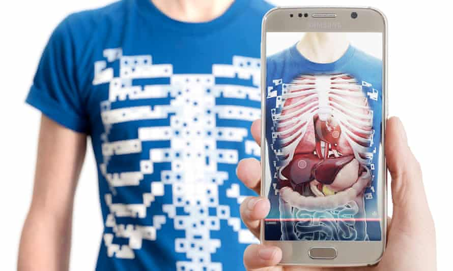 t-shirt and mobile app