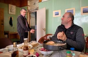 Technicians Edik Arshakian and Gurgen Jabaryan