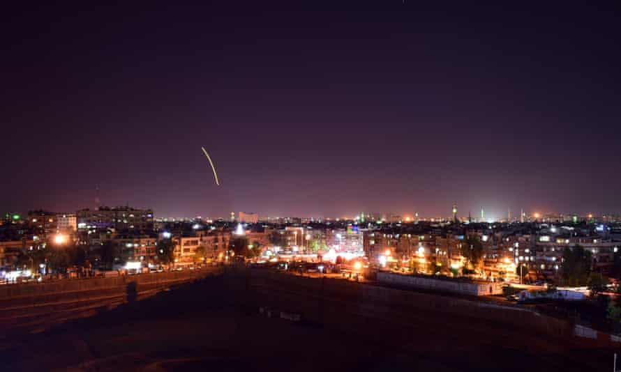 A video released by Syrian state news agency SANA reportedly shows activated air defences.