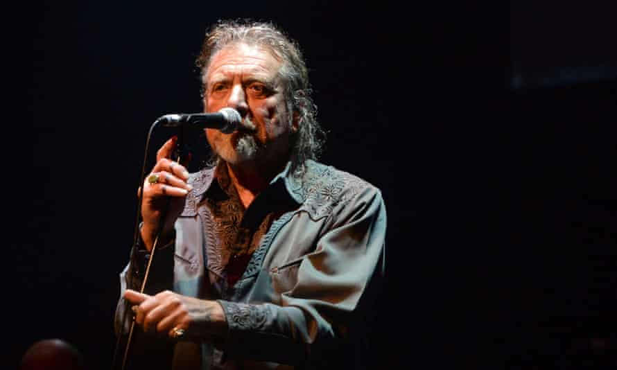 Robert Plant at the Celtic Connections concert for Bert Jansch.