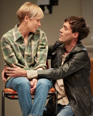 Siân Brooke and Alex Hassell in I'm Not Running at the National Theatre.