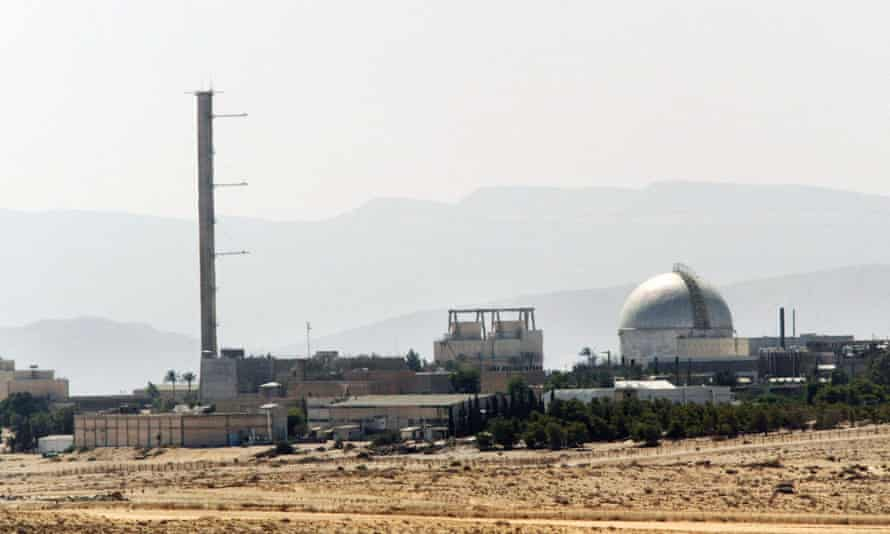 A partial view of the Dimona nuclear power plant in the southern Israeli Negev desert.