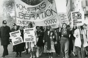 London in the seventies: women at the head of the TUC march in November 1979.