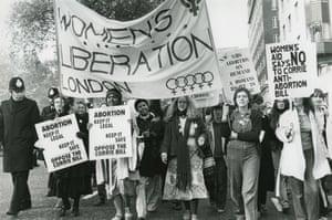 Women march against an anti-abortion bill in London in 1979