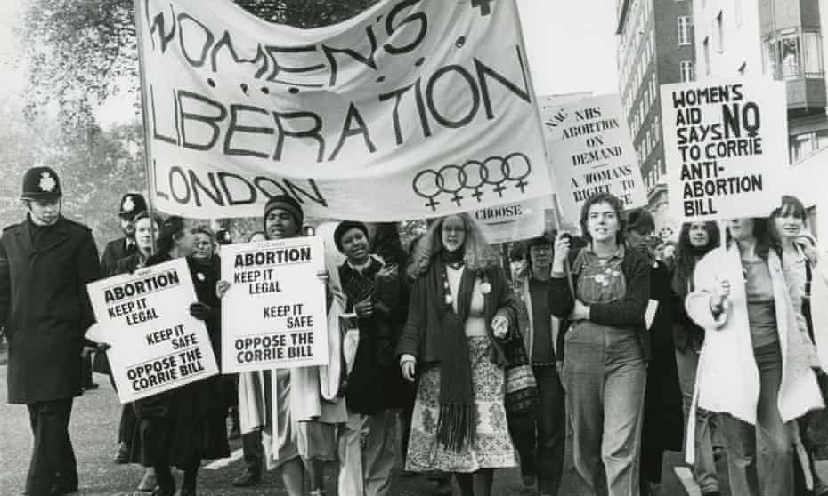 Women protesting against John Corrie's amendment to the 1967 Abortion Act, London, 1979.