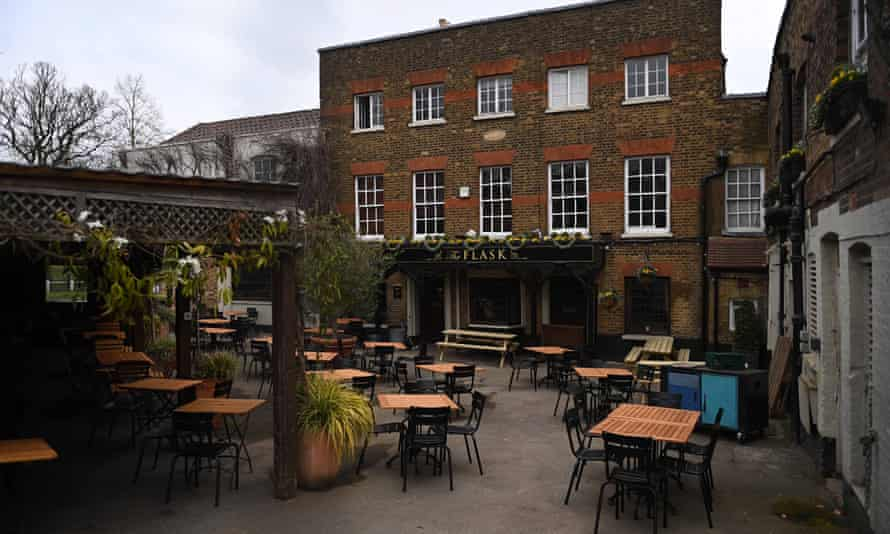 A closed pub in London.