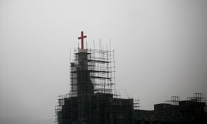 A church under construction in Wenzhou, Zhejiang province.