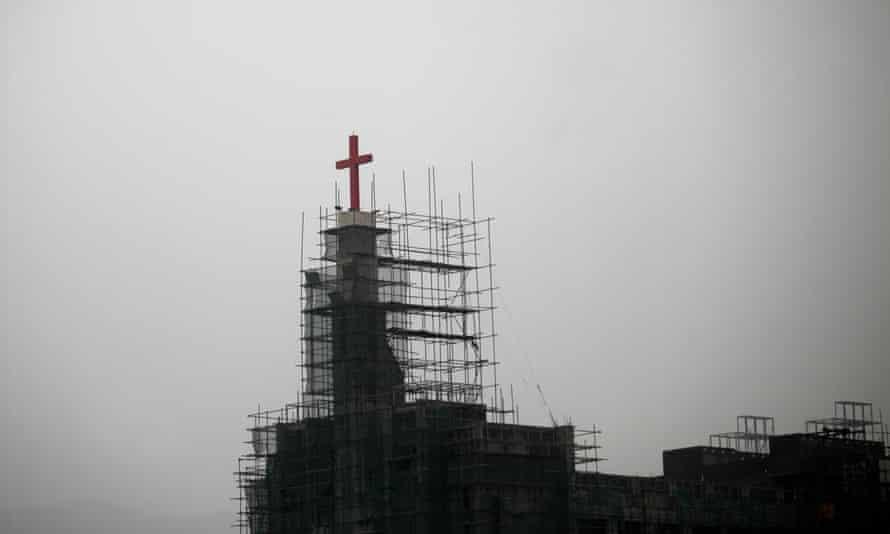 A church under construction in Wenzhou, Zhejiang province.