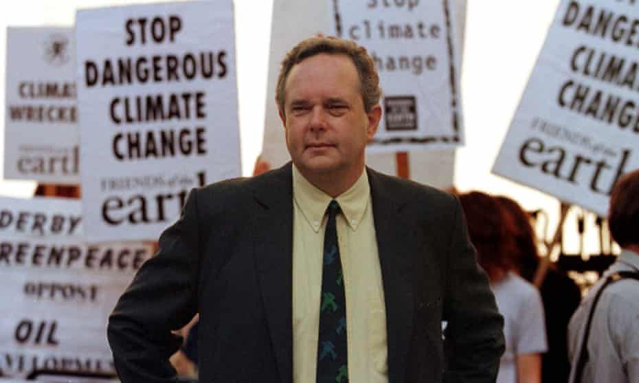 Peter Melchett at a protest in 1997 outside the high court in London