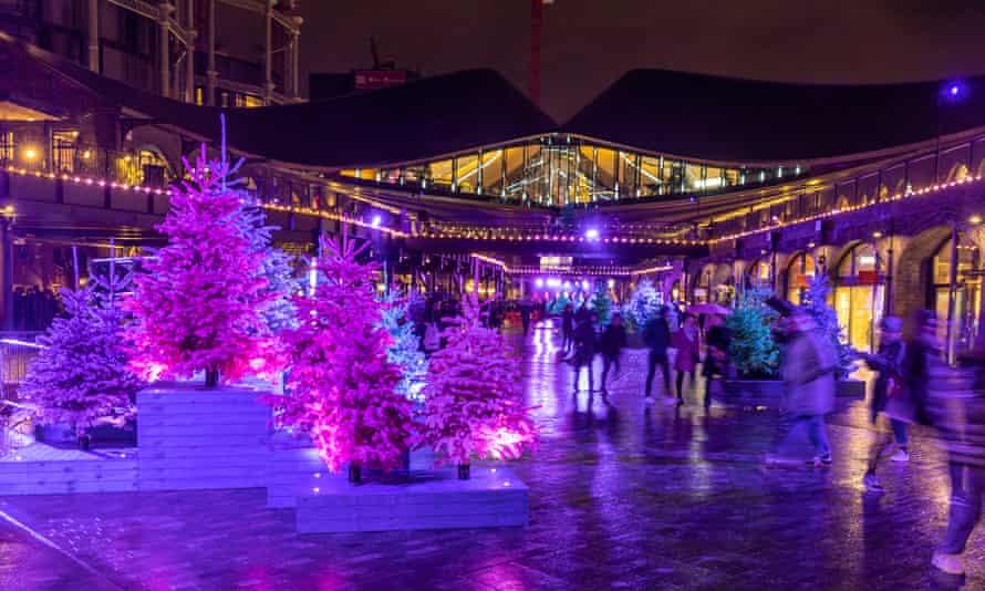 Christmas decorations at Coal Drops Yard, King'sCross