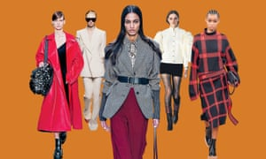 Paris fashion week AW20 catwalk looks from (l-r) Valentino, Givenchy, Chloé, Chanel and Stella McCartney.