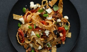 Giorgio Locatelli's reginette with aubergine, tomato and salted ricotta