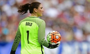 Hope Solo won the Golden Glove during last year's World Cup.