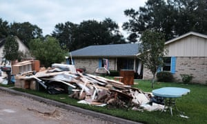 Damage caused to Texan homes by Hurricane Harvey.