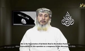 Nasr al-Ansi, a top commander of al-Qaida in the Arabian Peninsula, speaks about the deadly assault on Charlie Hebdo, the French satirical newspaper.