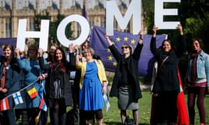 Demonstrators lobby MPs on 13 September to guarantee the rights of EU citizens living in the UK after Brexit