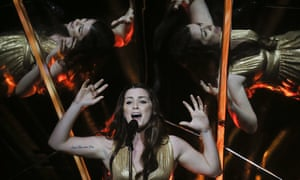 She'll never give up on EU … Lucie Jones, the UK's 2017 Eurovision entry.