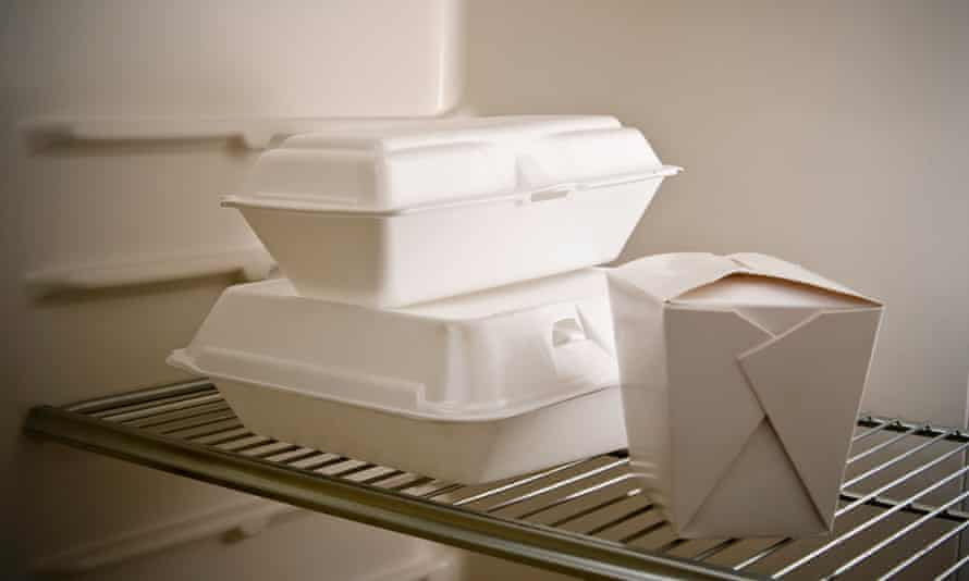 File photo of takeaway containers in a fridge